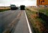 ca. 1Km lange Ölspur durch defekten Reisebus