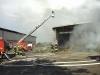 In Töttelstedt brannten ca. 1000 Strohballen unter einem  Schleppdach direkt neben einen Schweinestall